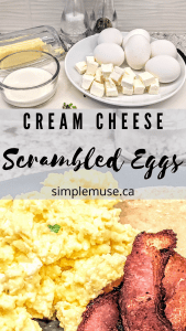 scrambled eggs, bacon and toast, picture of ingredients