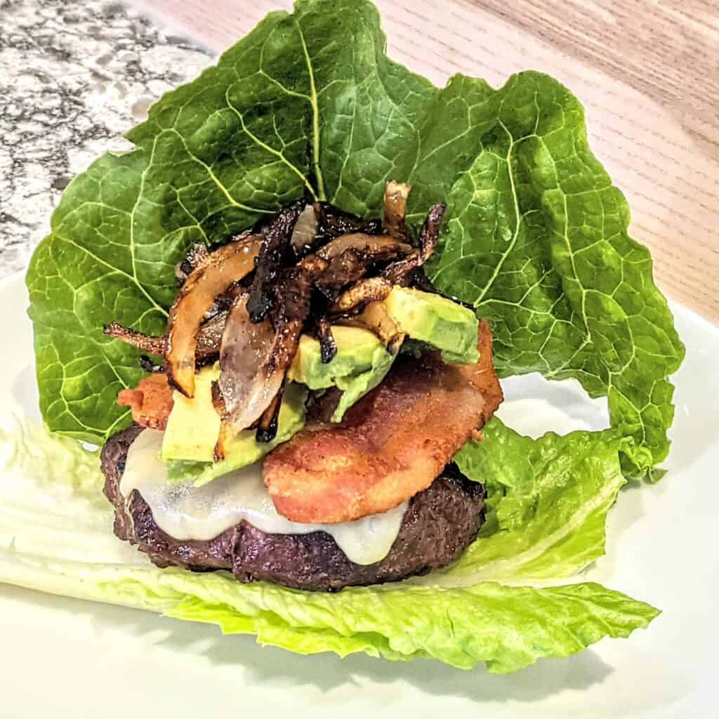 keto burgers from scratch with no bun