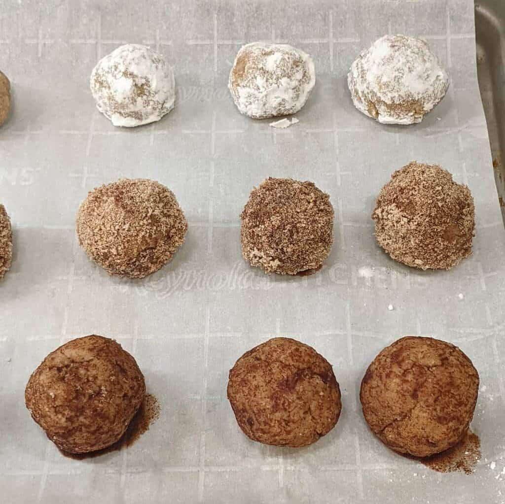 donut holes on baking sheet