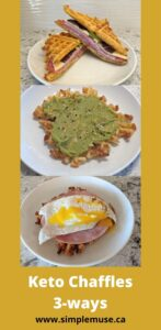 3 ideas for waffle sandwiches