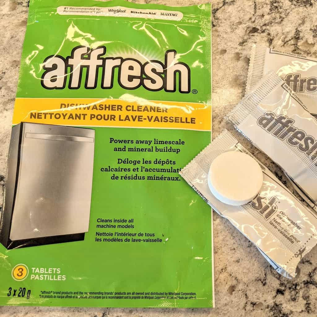afresh dishwasher clean tablet