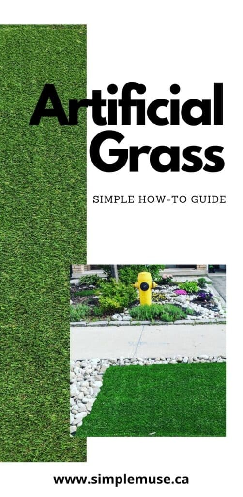 pin of garden with green artificial grass