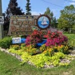welcome sign for Crystal Beach in Fort Erie, Ontario