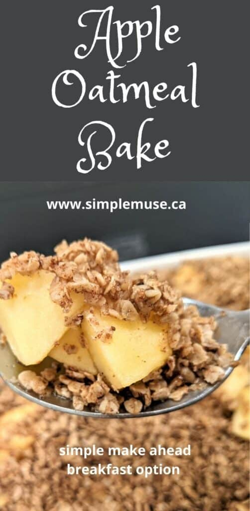apple oatmeal bake recipe pin