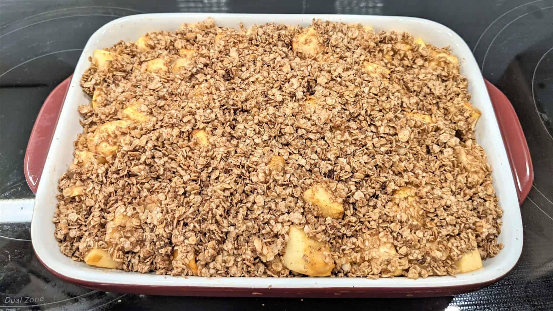 cooked apple oatmeal bake